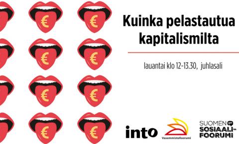 Kuinka pelastautua kapitalismilta -keskustelu Sosiaalifoorumissa